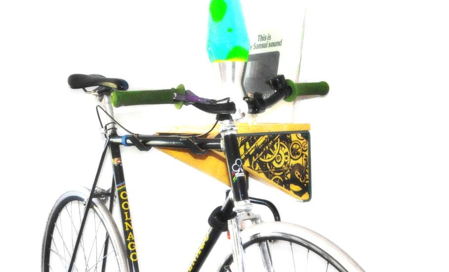Fahrradhalterung Wand _ Fahrradhalterung Wohnung _ Holz, bikeshelf_ Fahrradwandhalterung_ Fahrradhalterung
