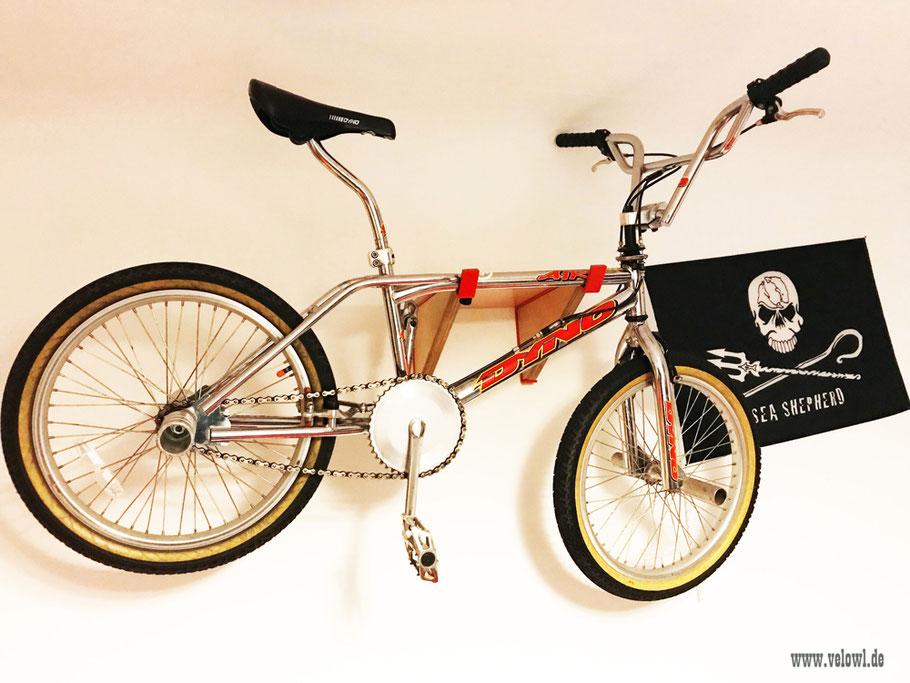 Fahrradhalterung Wand _ Fahrradhalterung Wohnung _ Holz, bikeshelf_ Fahrradwandhalterung, Dyno Air, BMX