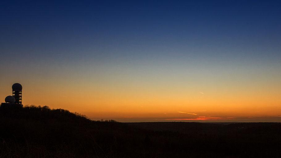 Sonnenuntergang Teufelsberg bearbeitet. Danke an Brigitte von digitalfotografie-foren.de