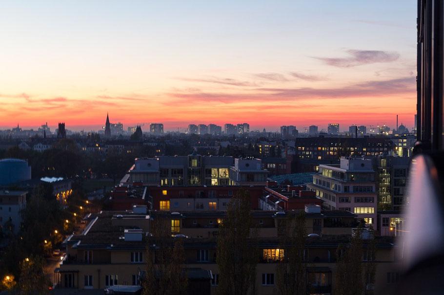 Sonnenuntergang über Berlin Treptow