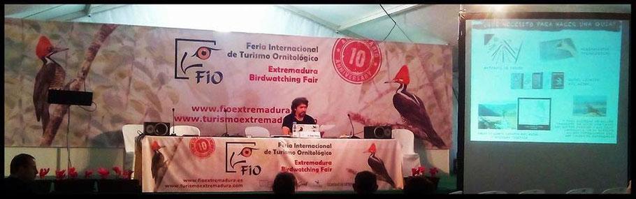 """Diego Ortega Alonso Conferencia en FIO 2015: """"Ilustrando aves: la importancia de la Ilustración en la Ornitología"""""""