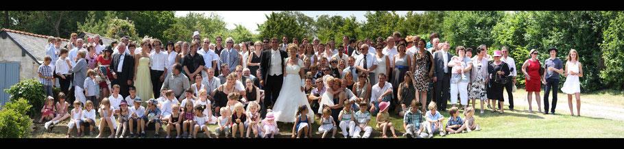 Photographie de groupe mariage presqu'ile guérandaise photo de groupe