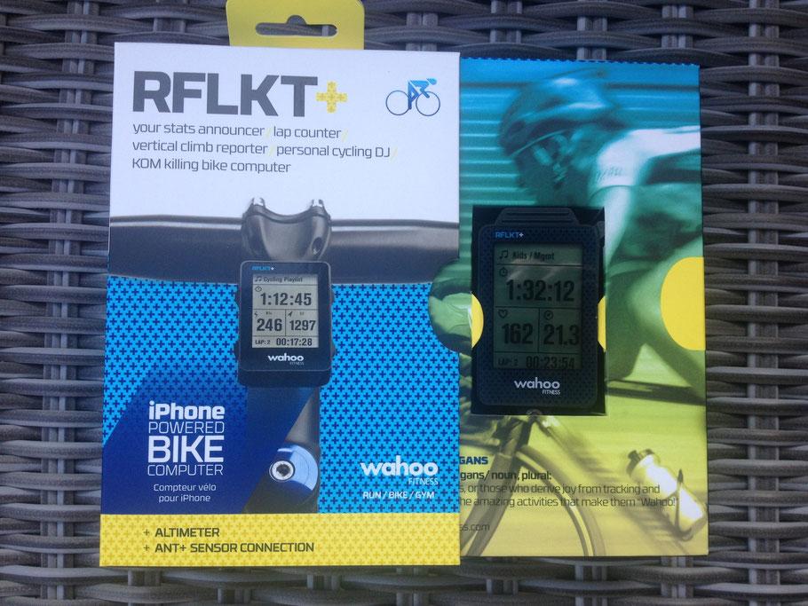 So erhälst Du den RFLKT+ hier noch frisch in der Verpackung. Und viel mehr Teile außer der Befestigung ist nicht dabei und auch nicht nötig. Sensoren braucht der RFLKT jedenfalls keine.
