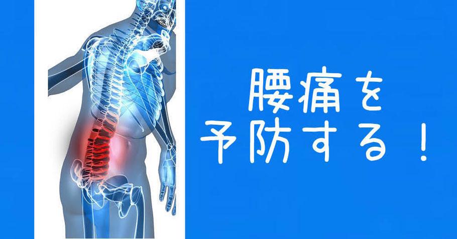 腰痛を予防する