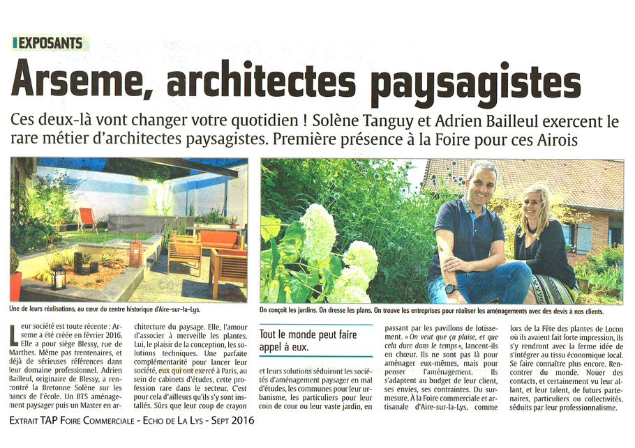 ARSEME Article L' Echo de la Lys