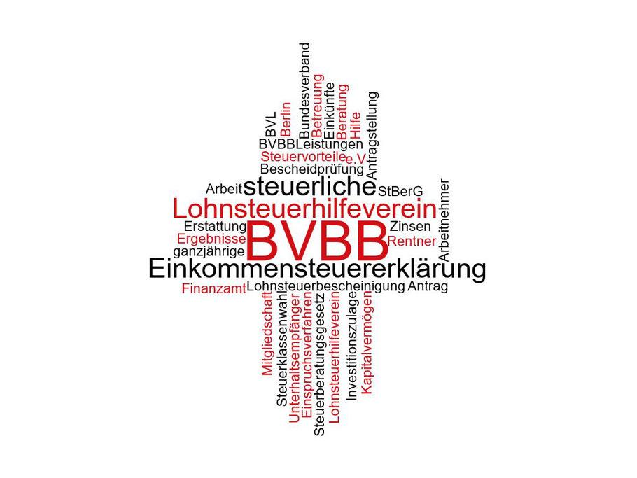 Selbstgenerierte Grafik zum Thema BVBB, Lohnsteuerhilfe, Einkommensteuererklärung