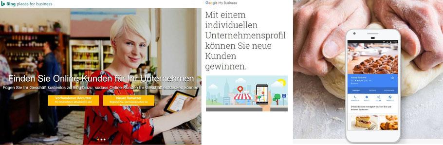 Ihre Firma jetzt werbewirksam eintragen auf Bing Places for Business und Google MyBusiness