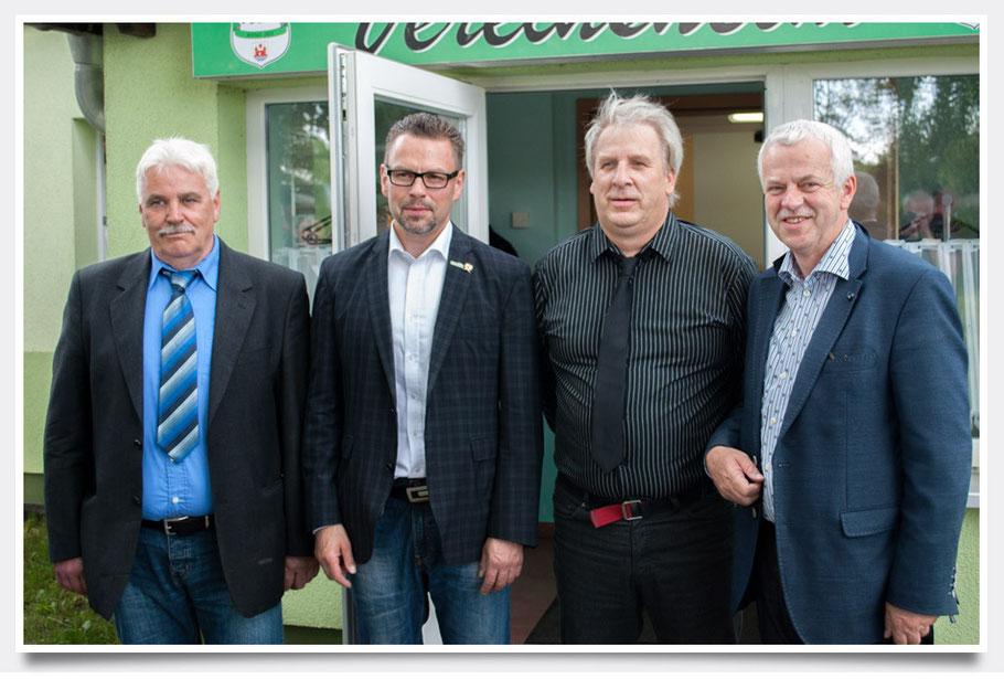 v.l.n.r. W. Mohns, H. Sommer, D. Schmidt, J. Polzehl
