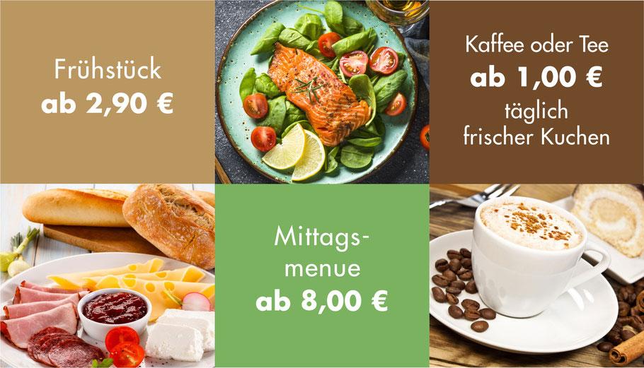 Speise-Angebot Caré-Restaurant