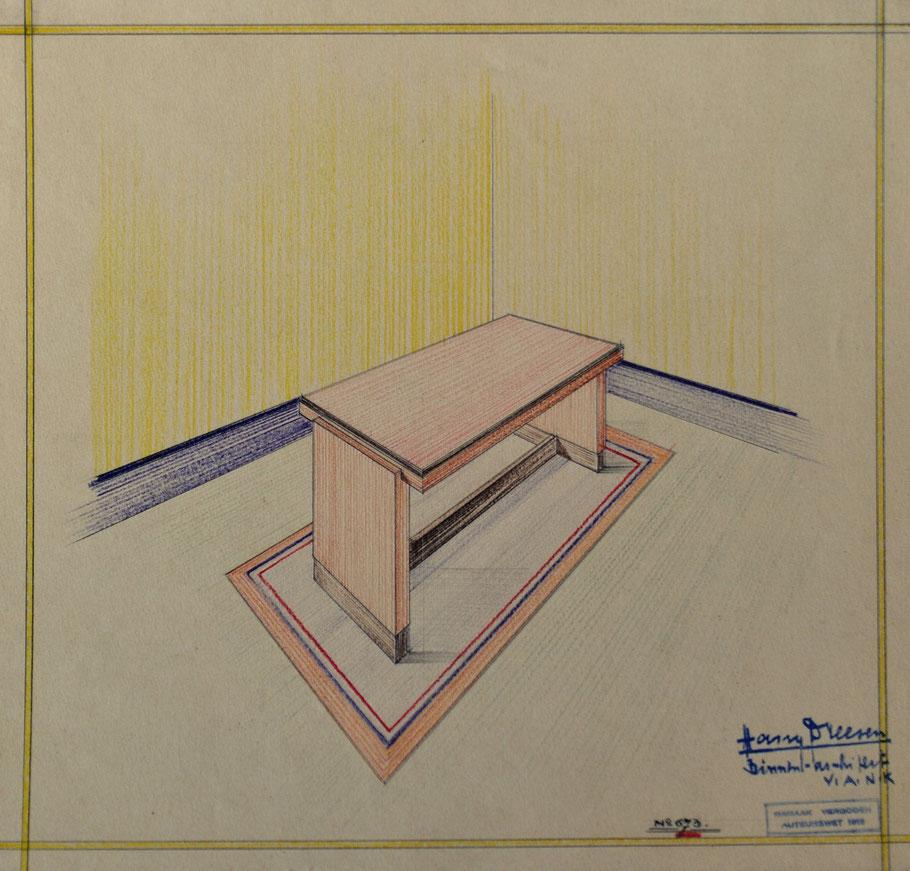 HD n° 673 Tafel - originale tekening eigendom van Wil Reijnders