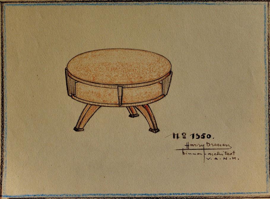 HD n° 1350 Tafel - originale tekening eigendom van Wil Reijnders