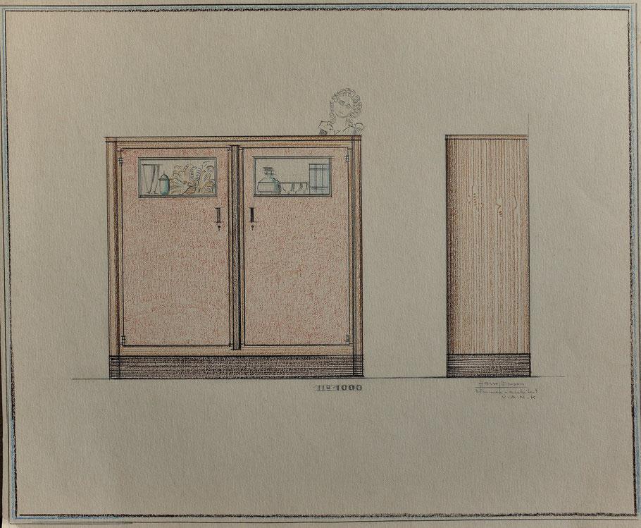 HD n° 1000 Kast- originale tekening eigendom van Wil Reijnders