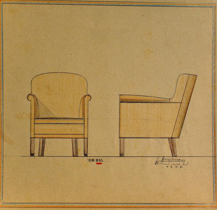 HD n° 832 Zetel- originale tekening eigendom van Wil Reijnders