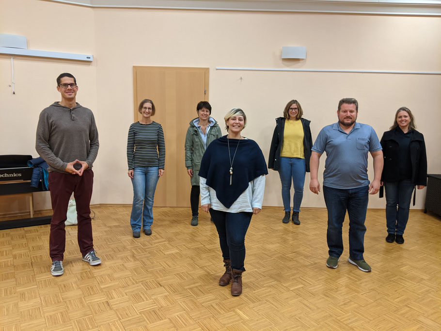 Gruppenfoto mit Hertha Loicht, Maria Schidl, Hannes Leitgeb, Sabine Bauer-Kaiser, Eric Weinberger, Christine Drechsler, Jürgen S.J. Langhammer