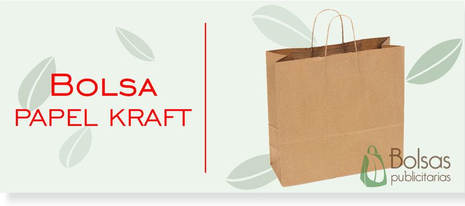 Bolsa de Papel Kraft con Asa Torcida