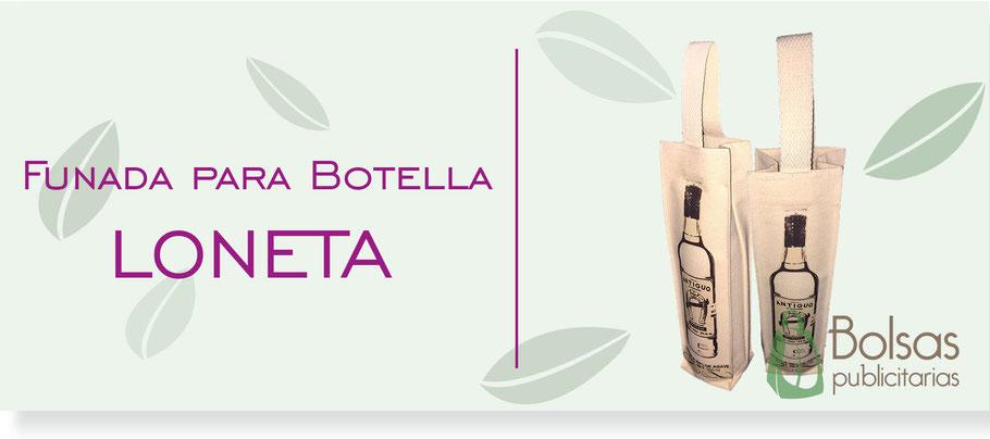 Funda para Botella de Loneta