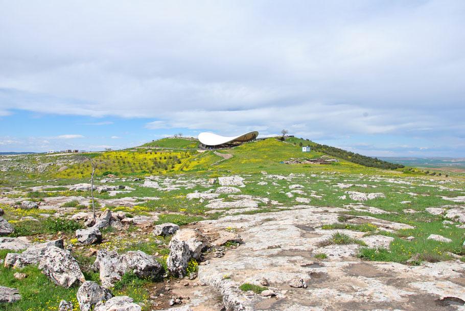 Schutzdach auf dem Göbekli Tepe (Foto Archiv Dr. Lee Clare)