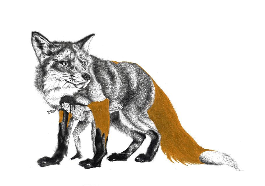 Sans titre - Crayon graphite, acrylique, stylo sur papier - 29x42 cm , 2015