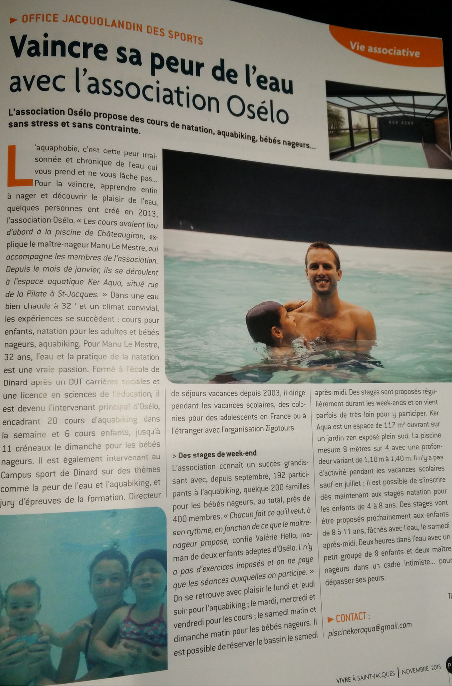 article presse piscine Ker Aqua