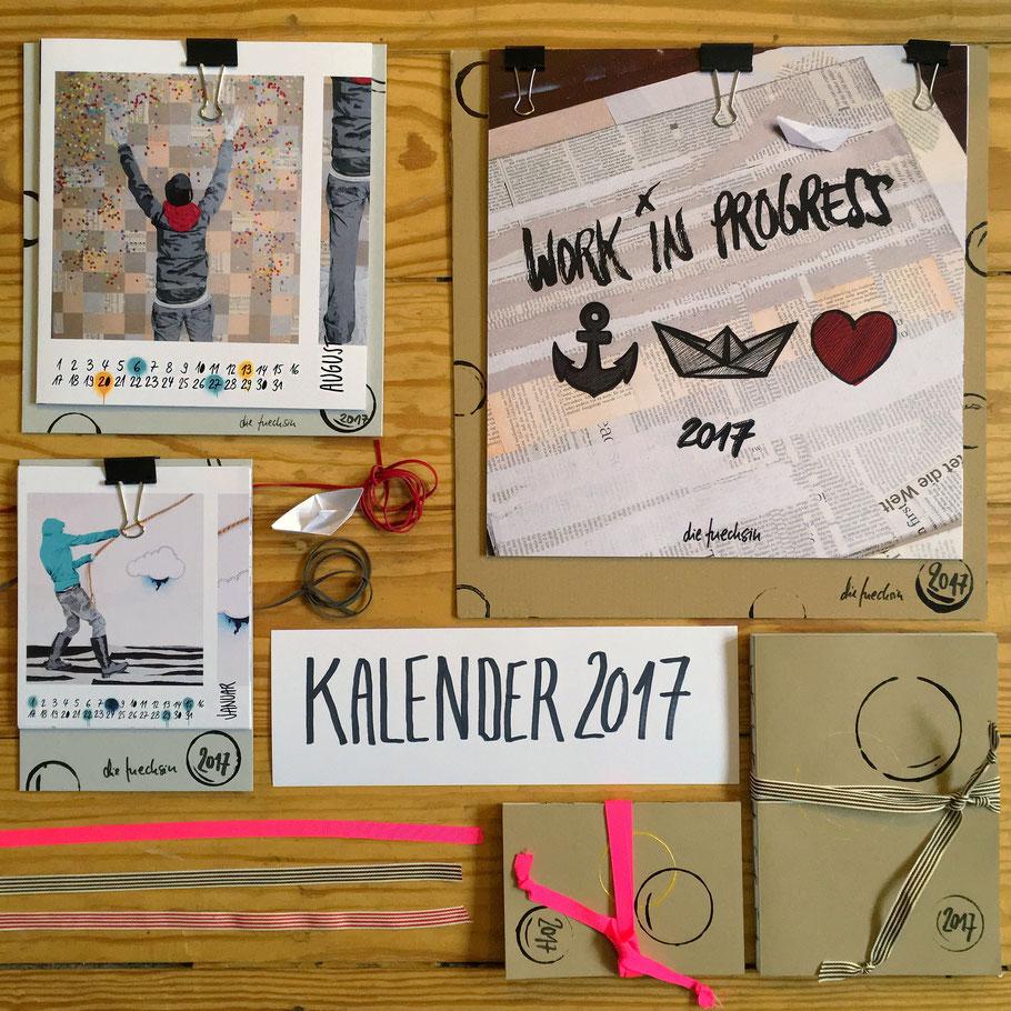 Kalender 2017 // Wand- und Tischkalender & Buchkalender