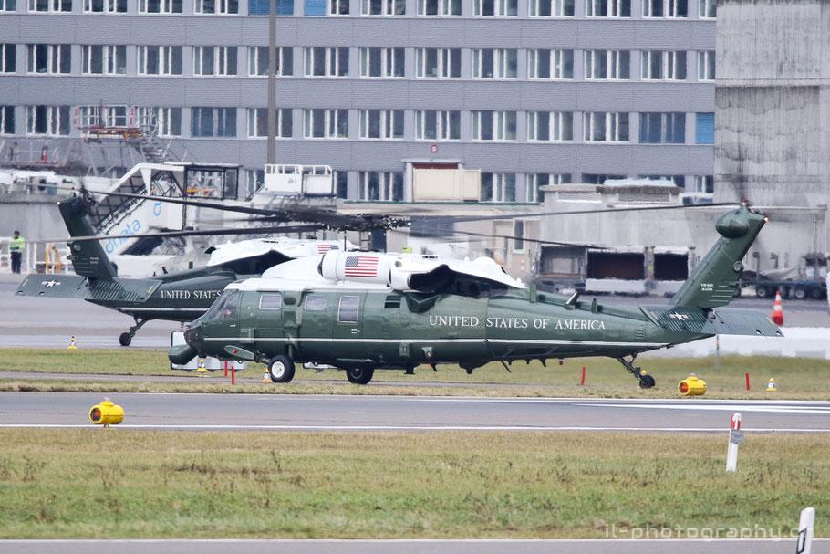 Sikorsky VN-60 Whinte Hawk Marine One der USA für Präsident Trump in Zürich