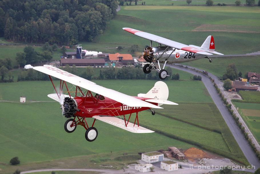 dewoitine travelair air to air thun oldtimer flugzeug