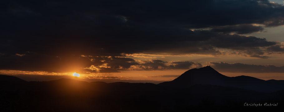 Coucher de soleil Puy de Dôme