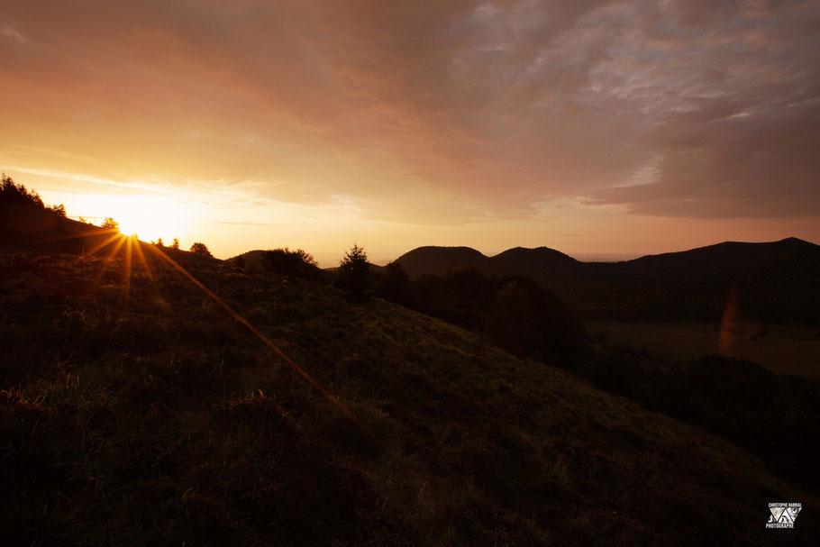 Lever de soleil Chaîne des Puys