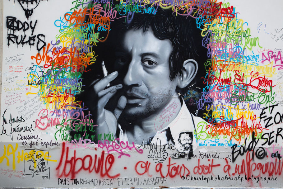 Photo art urbain Paris Gainsbourg