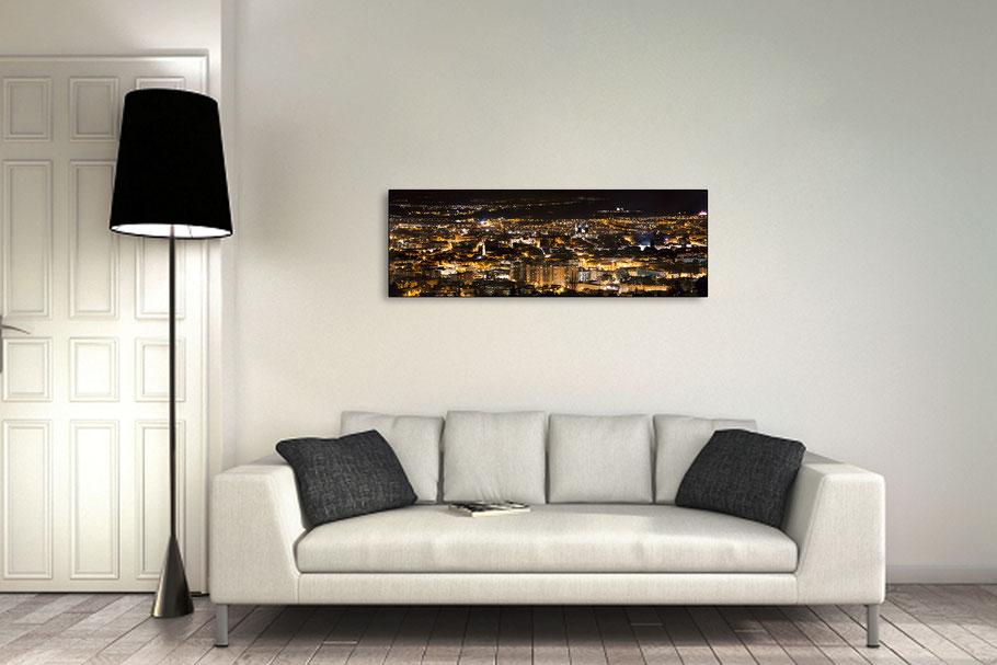 Format panoramique 90x30 cm