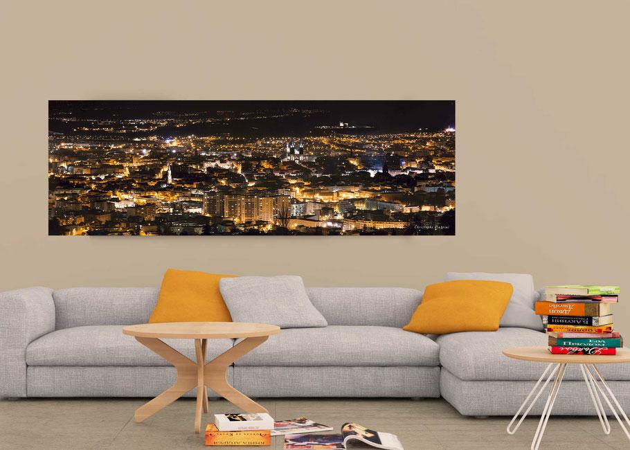 Tirage panoramique Clermont-Ferrand  nuit