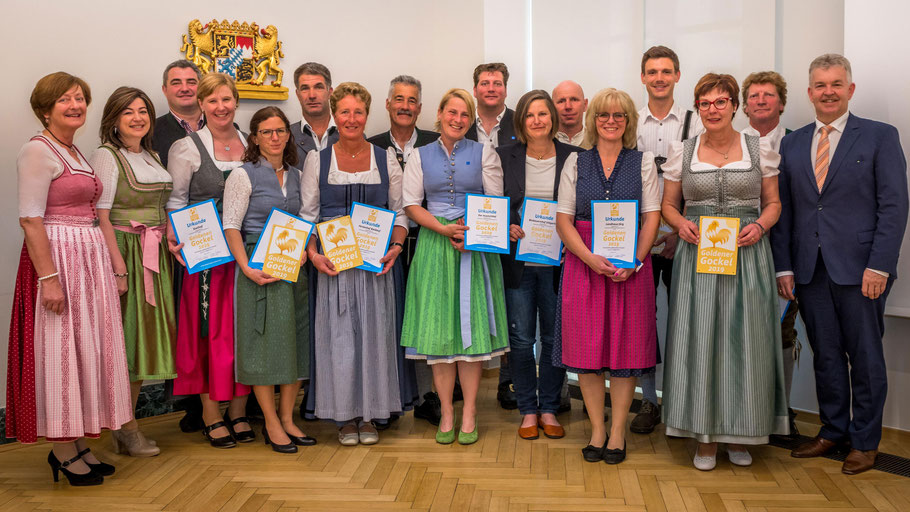 alle Preisträger des Goldenen Gockels 2019 aus dem Allgäu  (c)Maucher