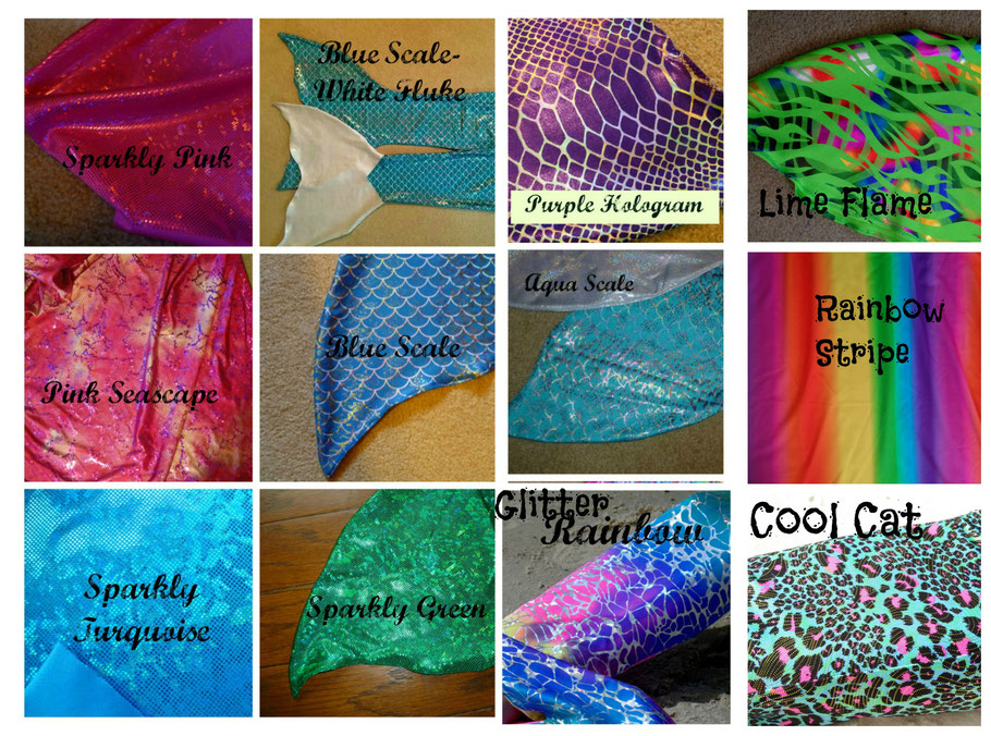 mermaid tail colors