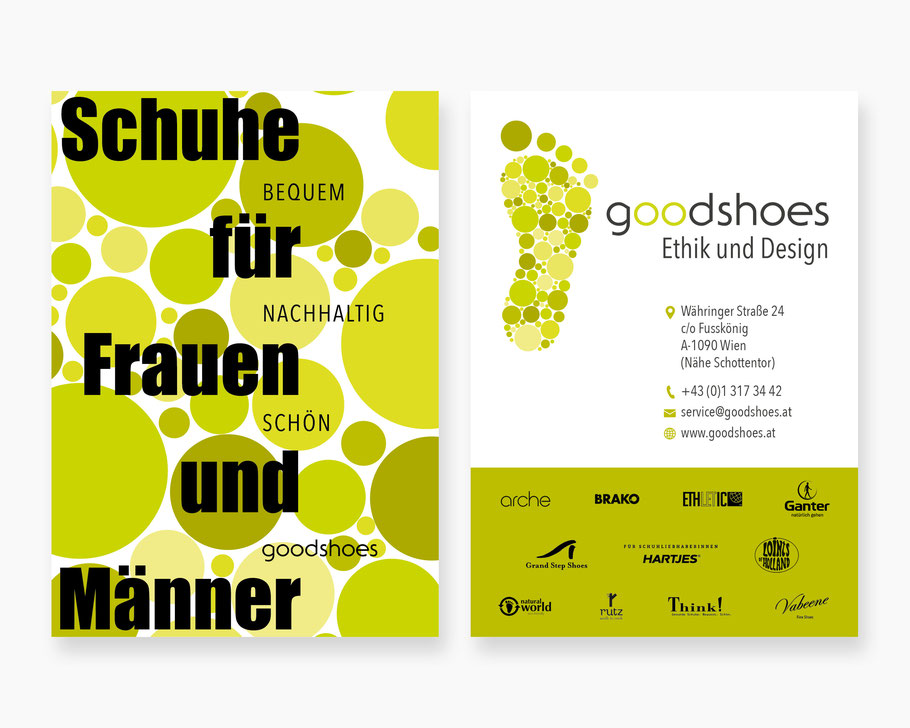 good shoes Visitenkarte und Flyer Exel-Rauth