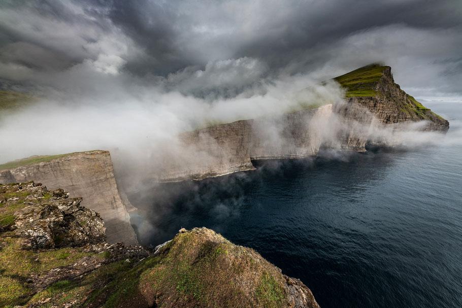 Sørvágsvatn, Nebel, Tief hängende Wolke, Färöer