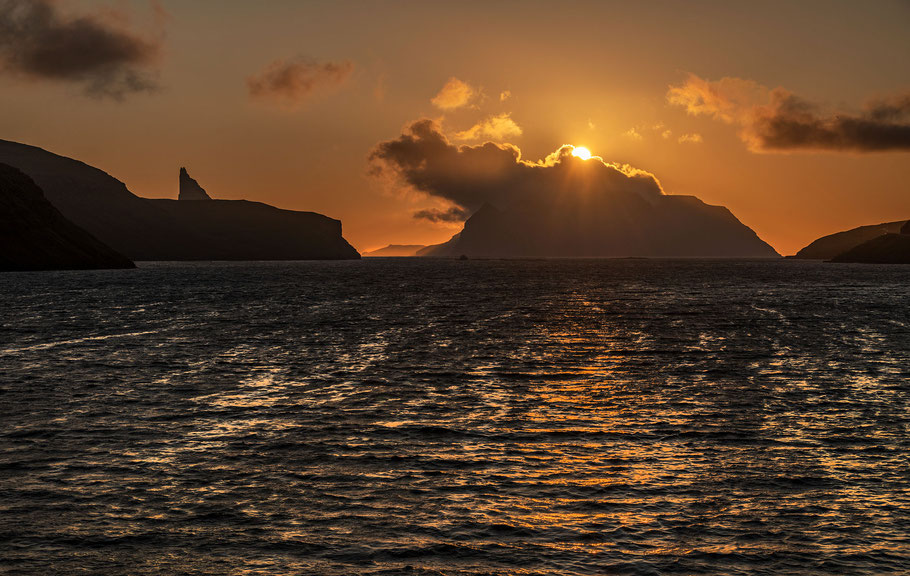 Mykines Sonnenuntergang