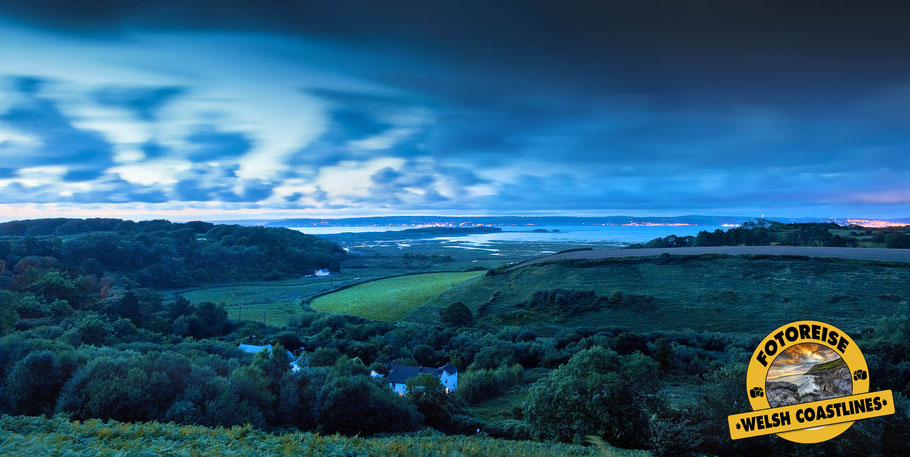 Fotoreise Wales, Nachtaufnahme bei Llanmadoc