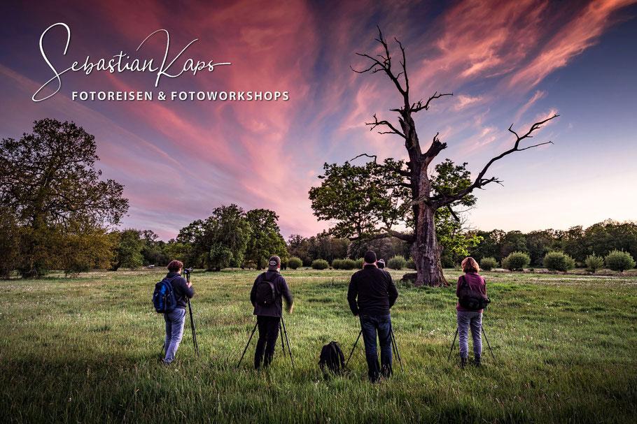 Gruppe bei Fotoreise oder während Fotoworkshop