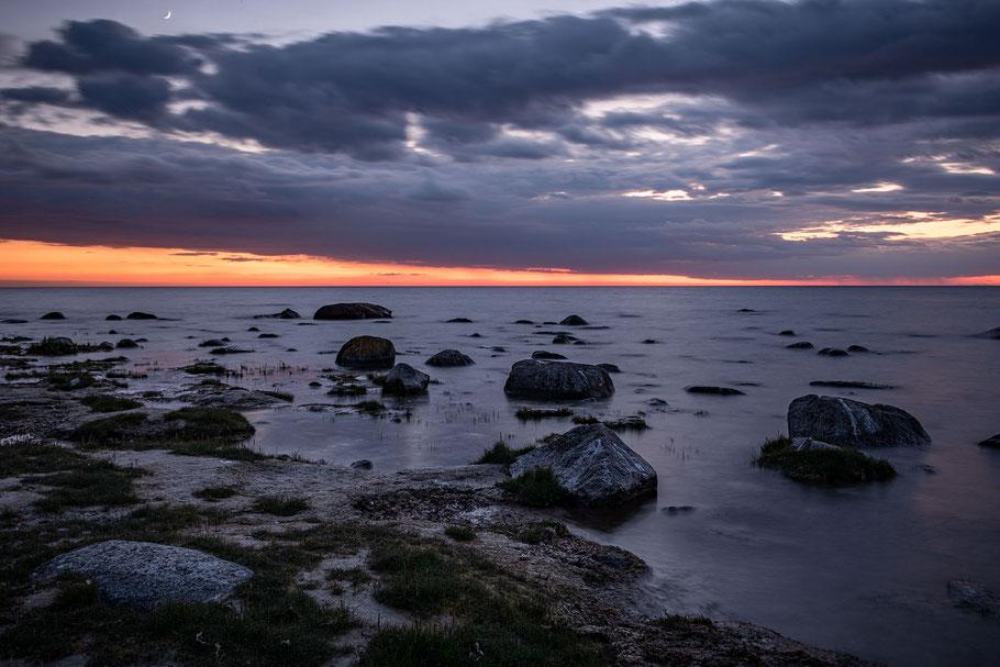 Sonnenuntergang am Meer, Strand, Insel Ruegen