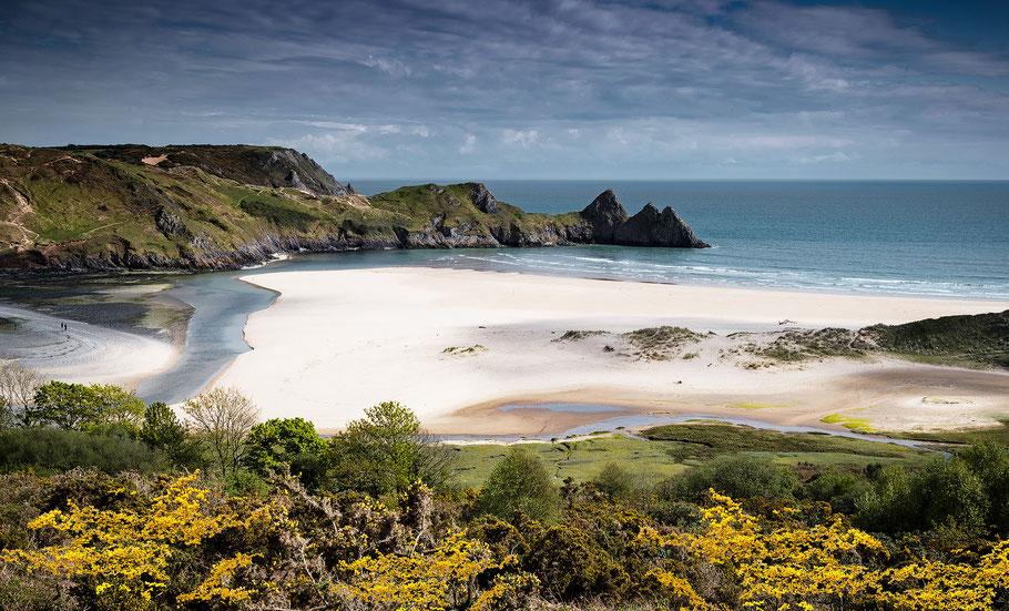 Fotoreise Wales, Three Cliffs Bay, Wales