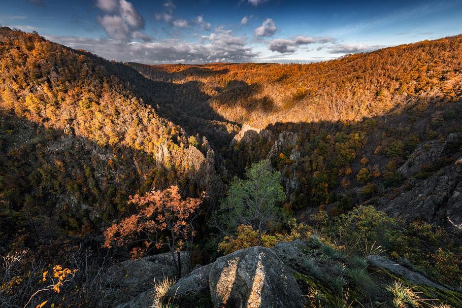 Landschaftsfotograf Deutschland, Nationalpark Harz, Blick ins Bodetal