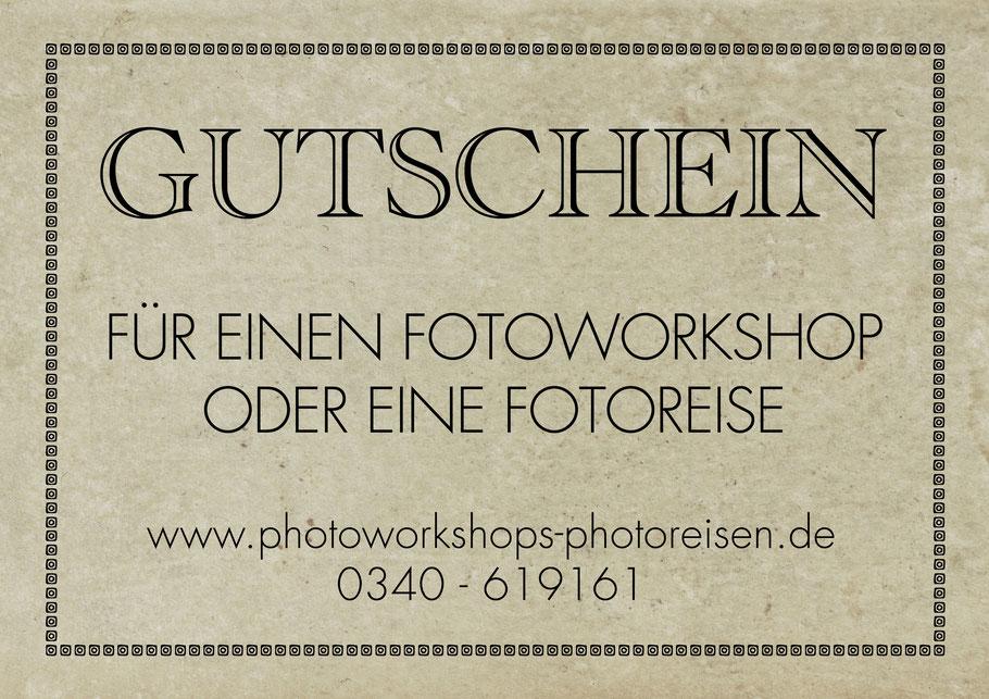 Geschenkgutschein für einen Fotoworkshop oder eine Fotoreise mit Sebastian Kaps