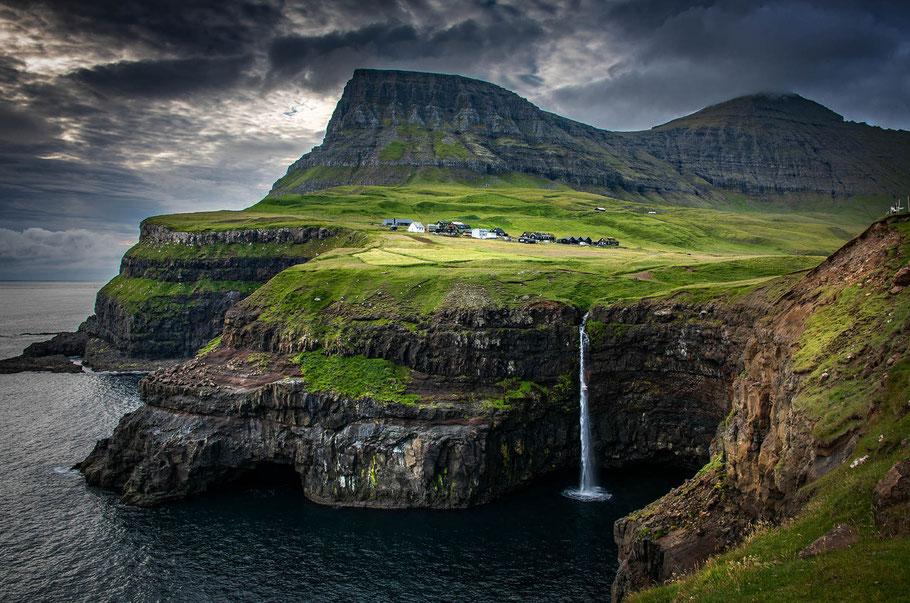 Landschaftsfotograf Sebastian Kaps aus Deutschland, Gasadalur, Landschaftsfotografie der Färöer-Inseln