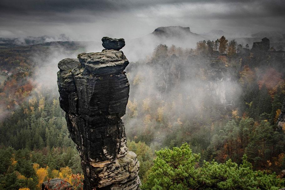 Landschaftsfotografie Deutschland, Nationalpark Sächsische Schweiz, Elbsandsteingebirge, Wehlnadel