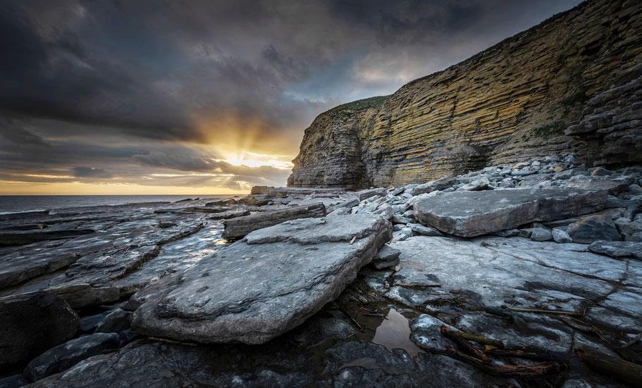 Fotoreise Wales, Dunraven Bay, Abendstimmung