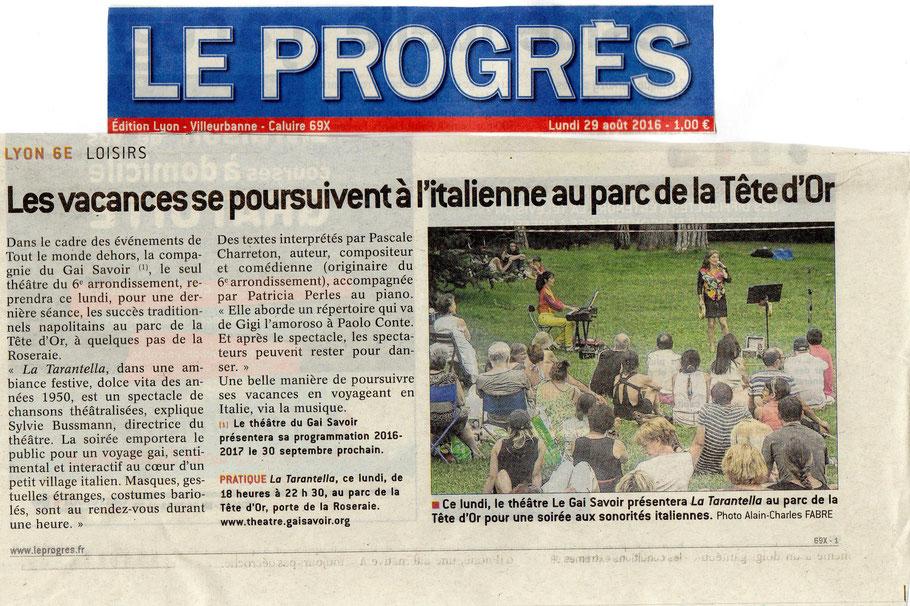Le Progrès Lyon, Pascale Charreton