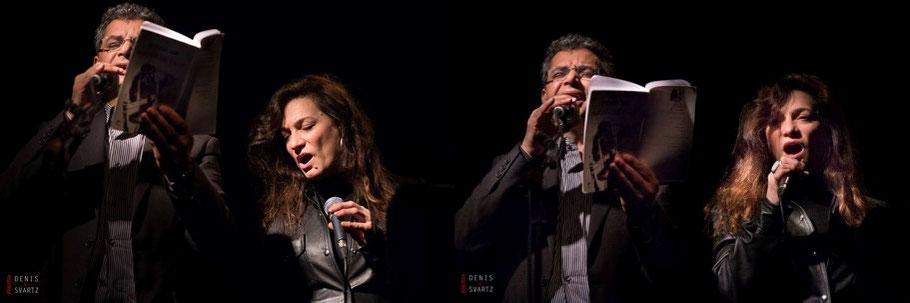 Pascale Charreton et Mohammed El Amraoui, Périscope, Lyon, décembre 2015, photo Denis Svarz