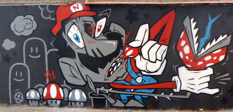 Mario Bros Graffiti