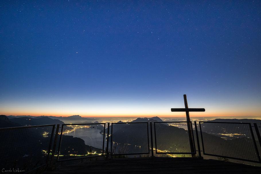 Sternenhimmel über dem Vierwaldstättersee, Fronalpstock