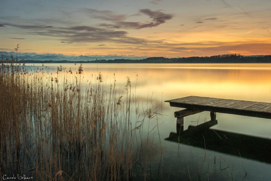 Sonnenuntergang am Päffikersee